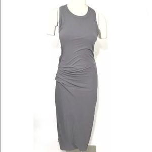 Standard James Perse Skinny Tucked Tank Dress Gray